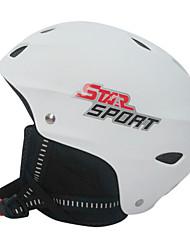 estrella unisex blanco abs de esquí / casco de snowboard fresca