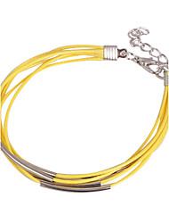 eruner®leather браслеты многослойных сплавов желтые прелести браслеты ручной работы