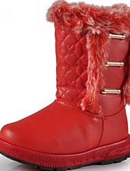 Girls' Shoes Round Toe Flat Heel Mid-Calf Boots with Snow Boots More Colors Available