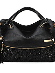 VENCHY Sequin Single Shoulder Bag 10015 Black,Leopard