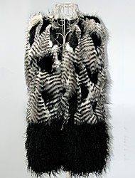 Women Faux Fur Outerwear , Belt Included