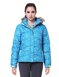 AD-2192 Waterproof VALIANLY Outdoor Women's Skiing Down Jacket