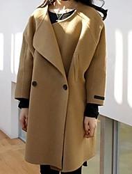 moda longo casaco de caxemira de Jansa ™ mulheres