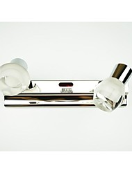 Wodiston Led Wall Lamp 2 Lamp, Hand Brush Induction Switch, Acrylic, Simple Artistic Stainless Steel