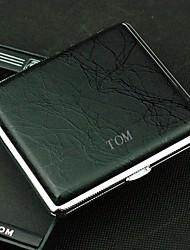 paquets étui à cigarettes de cigarettes personnalisés en métal noir (20