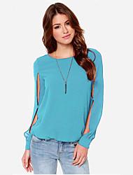chiffion moda camisa de cor sólida