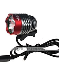 zhishunjia waterdichte 3-mode 1xCree xm-L2 U2 high power fiets lamp (900lm, usb 5v, grijs + rood)