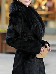 Women's Elegant Faux Fur Warm Long Sleeve Coat