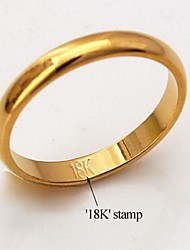 Fancy High Quality 18K Chunky Gold Plated Midi Ring for Women Men Classic Simple Style with 18K Stamp 3MM