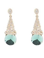 requintados brincos de cristal Rhinestone das mulheres