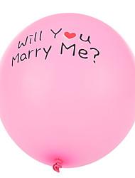tamanho extra grande rosa balões redondos proposta de união de espessura - um conjunto de 24