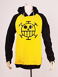 Inspired by One Piece Trafalgar Law Anime Cosplay Costumes Cosplay Hoodies Print Black / Yellow Long Sleeve Top