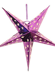Three-dimensional Five-pointed Star Christmas Lampshade(Random Color,30CM)