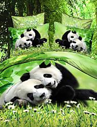 baolisi animal print 4 peças conjunto de capa de edredon