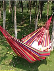 Outdoor Portable Cotton Rope  Hanging Hammock Canvas Bed