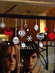 adesivi murali stickers murali, moderne anno fiocco di neve Adesivi da parete ciondolo pvc Natale e Capodanno
