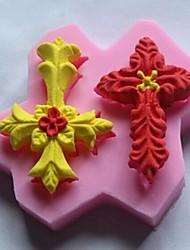 двойной крест листья формы помадной торт шоколадный силиконовые формы
