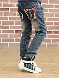red star Eisenschnalle Jeans des Jungen
