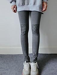 Women's Stitching Lace Slim Leggings(More Colors)