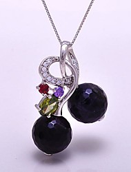 AS 925 Silver Jewelry   Natural Amethyst Pendant
