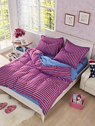 Stripe Polyester 4 Piece