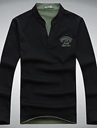 Battlefield Jeep autumn Mens Long Sleeve T-shirt V collar long sleeved t-shirt men's fashion