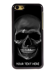 Personalized Phone Case - Black Skull Design Metal Case for iPhone 5C
