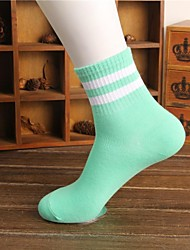 Women's Fashion Candy Color Stripe Socks