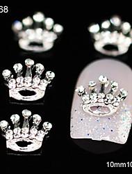 10pcs compleanno corona di strass in lega accessori fai da te nail art decorazione