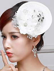Women's/Flower Girl's Lace/Rhinestone Headpiece - Wedding Fascinators/Flowers/Hats