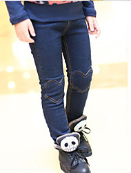 Girl's Heart-Shaped Patch Jeans