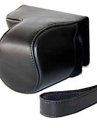 pajiatu® rétro pu huile de cuir caméra peau étui de protection Housse avec port de charge pour Canon Powershot hs de sx510