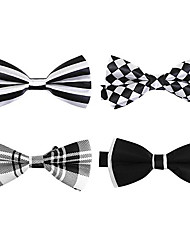 coffret cadeau cravate noire (quatre pièces)