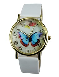 Women's Butterfly Pattern PU Band Quartz Casual Watch(Assorted Colors) Cool Watches Unique Watches