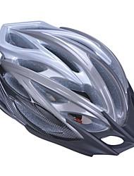 высокой воздухопроницаемостью PC + EPS черный велосипедный шлем со съемным солнцезащитный козырек (24 отверстия) - серые + черный