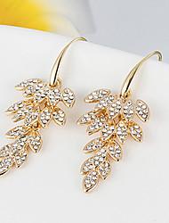 Cute / Party Gold Plated / Rhinestone Drop Earrings