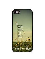 cas de téléphone personnalisé - ne pense pas trop cas de conception en métal pour iPhone 5 / 5S