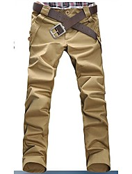 Tinker Men's All Mtach Solid Color Casual Long Pants