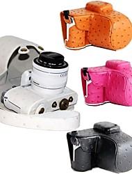 pajiatu® pu cuero de avestruz cámara grano bolsa estuche protector cubre con puerto de carga para Samsung NX3000