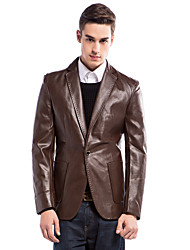 Slim Notch Jacket With One Button In PU