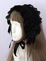ruban noir et bordé de dentelle gothique lolita bandeau