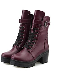 Women's Shoes Fashion Boots Chunky Heel Mid-Calf Boots More Colors available