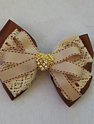 White Lace Coffee Satin 11 centímetros Bow clássico Lolita barrete com Button