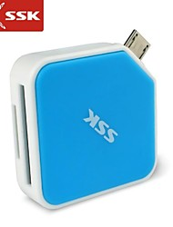 SSK® SCRM068 Micro USB 2.0 All in 1 OTG Card Reader for MicroSDHC SDHC