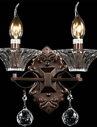 Crystal/Mini Style Wall Sconces/Candle Wall Lights , Modern/Contemporary E12/E14 Metal