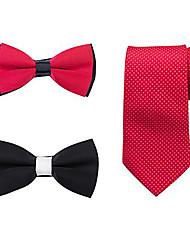 Tuxedo Tie/Bow Tie Set (3 pieces)