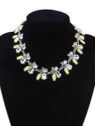 Women's Clearance Flowers Cluster Cute Bib Statement Necklace