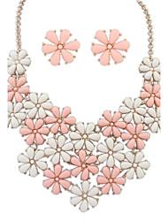 z&X® flores doces colar e brincos conjunto de jóias (1 jogo, 5 opções de cores: rosa, azul, verde, preto, amarelo)