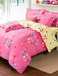 Duvet Cover Set,4 Piece,Warm Skin Sueding,Colorful World,Reative Printing,Two Size