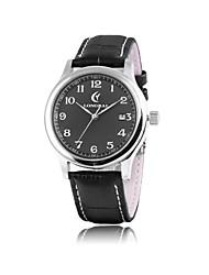 Men's Calendar Analog Round Leather Quartz Wrist Watch(Assorted Colors)